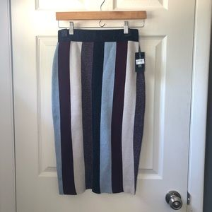 Sparkly Striped Skirt